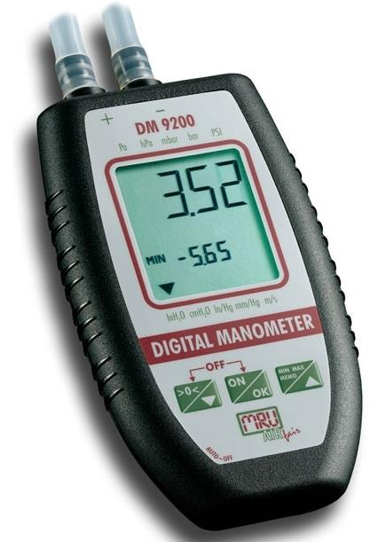 Precizni digitalni manometer MRU DM9200 +/-75 hPa (mbar)