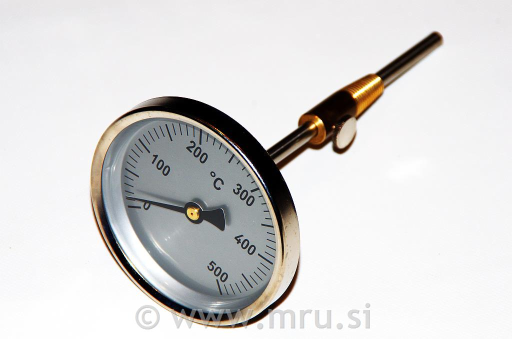 Termometer za dimne pline do 500°C - L = 290 mm